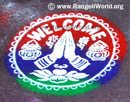 Welcome Rangoli using Instrument