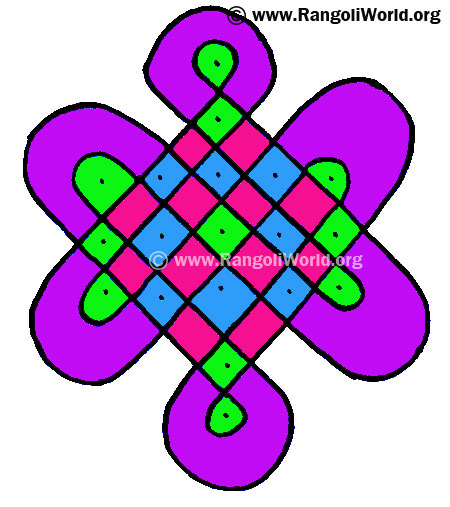 7 to 3 Parallel Dots Kolam