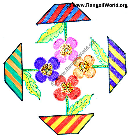 Flower Pot Kolam