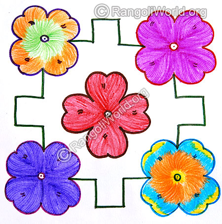 Flower kolam jan 2015