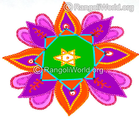 Pooja room star rangoli margazhi 2016