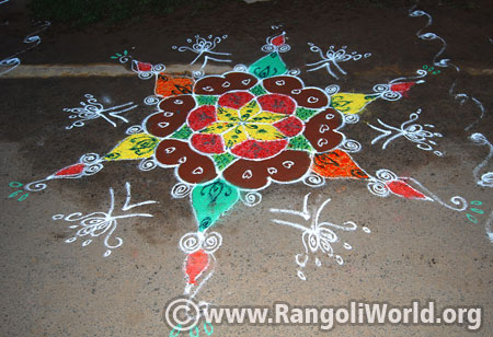 Easy margazhi rangoli design 2017