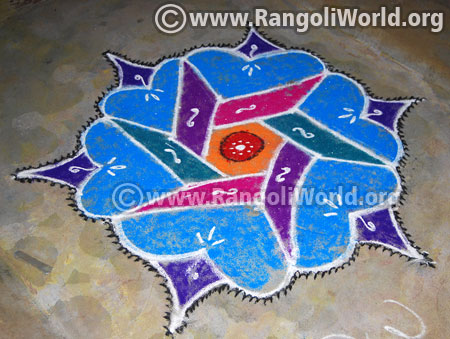 Simple margazhi rangoli design 2017