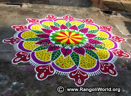 Freehand rangoli latest 2019 design new year special