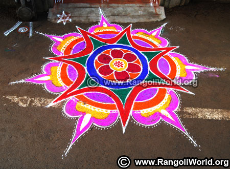 Lamp rangoli design for new year 2019