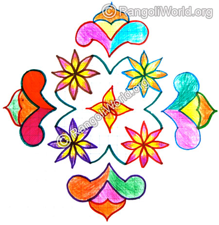 Flowers kolam 13 to 1 Jan1 2015