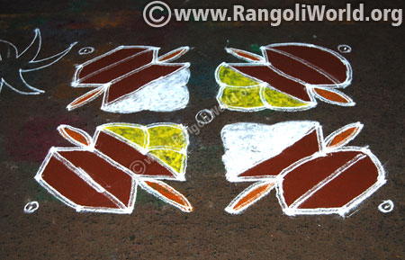 Easy pongal pot kolam jan 2016