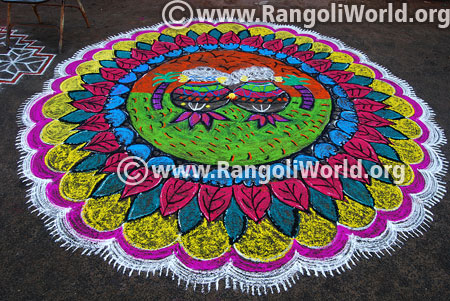 Pongal and sankranti rangoli design 2016