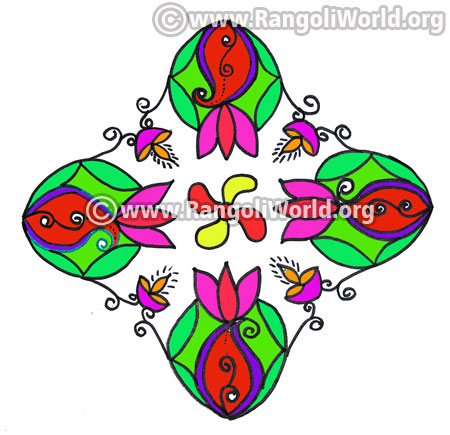Flower kolam design jan14 2017