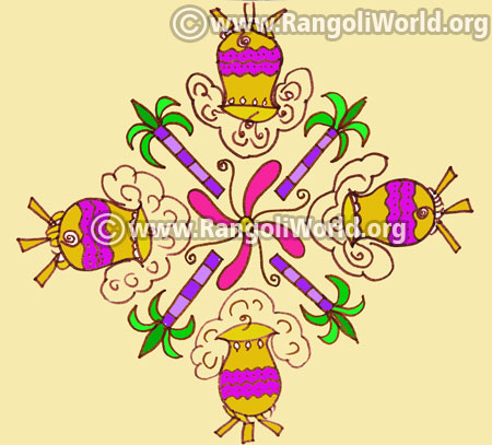 Pongal kolam design jan4 2017