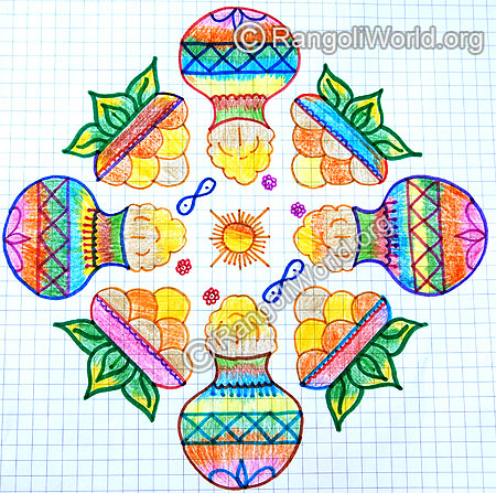 Pongal and sweets kolam