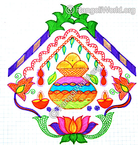 Pongal greetings kolam