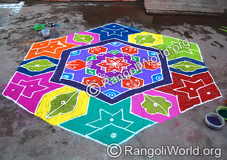 Star and Fish Kolam