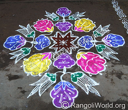 Twin Flower Kolam