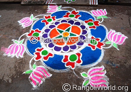 Lotus Freehand  Rangoli