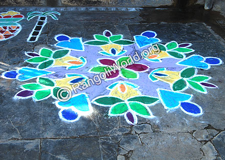simple Rangoli Kolam