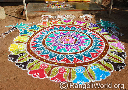 Freehand Traditional Rangoli