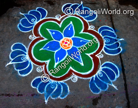 Lotus freehand rangoli jan2015