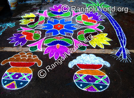 Pongal celebration rangoli jan2015