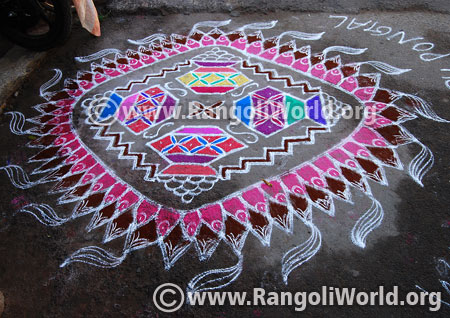 Pongal pot rangoli design 2017