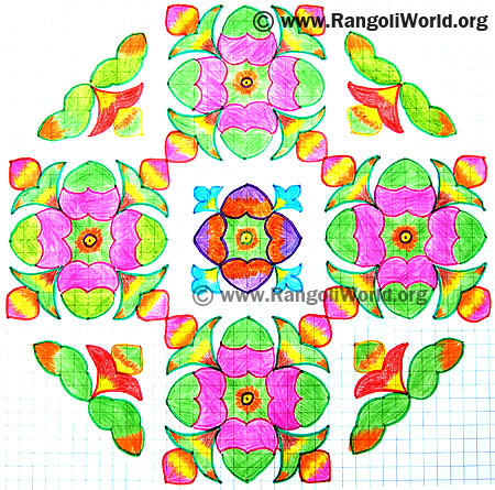 Flower Buds Kolam