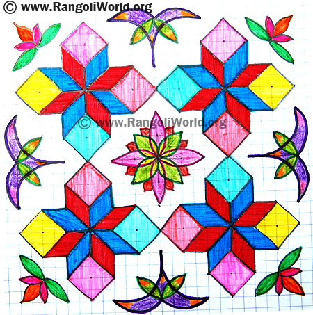 Flowers Diamond Kolam