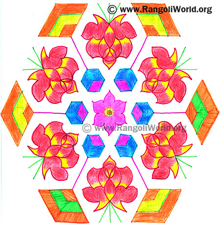 Rose Diamond Kolam