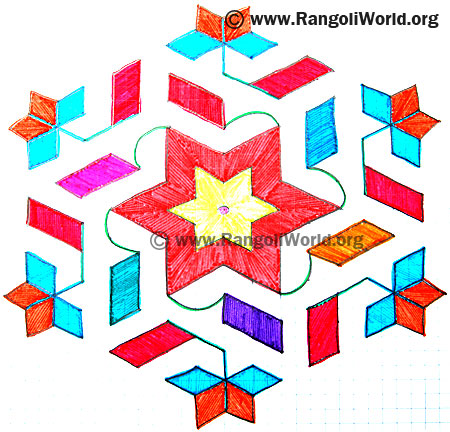 Star Flag Kolam
