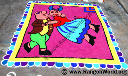 Mouse Dance Rangoli