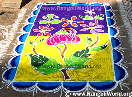 Carpet Flower Rangoli
