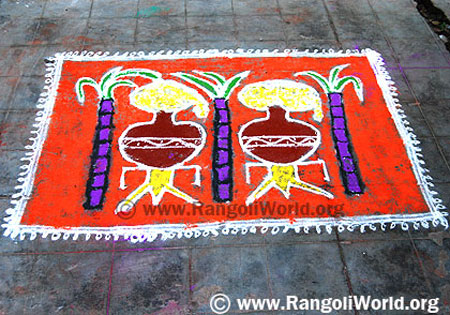 Two Pot Pongal Rangoli