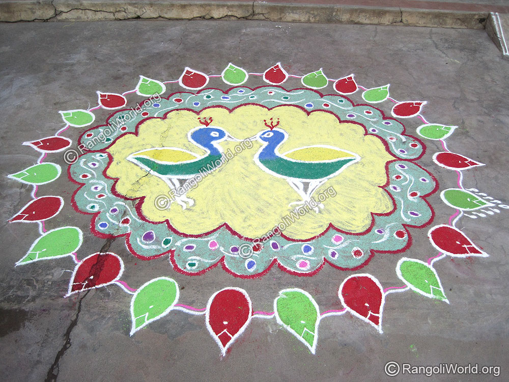Duck Rangoli Sep 2009
