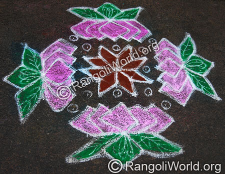 Bloomed Lotus Rangoli