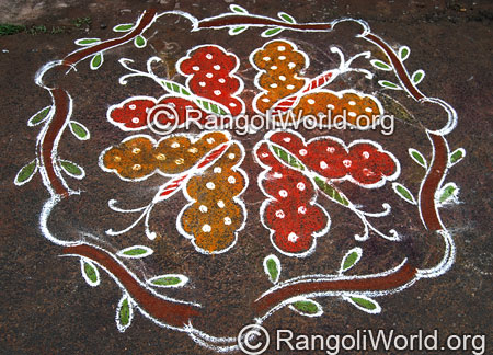 Flying Butterfly Rangoli