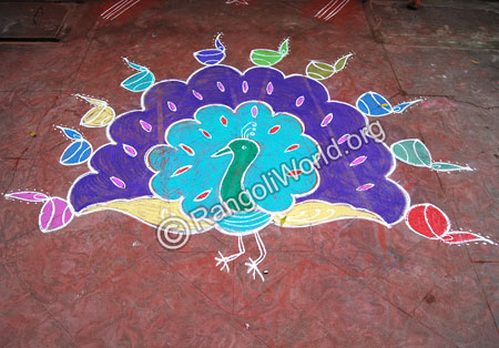 Peacockdance Rangoli
