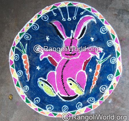 Rabbit Rangoli