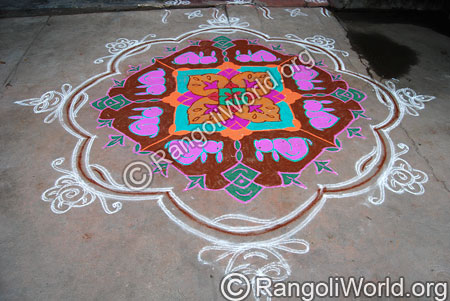 Sleeping Rabbit Rangoli
