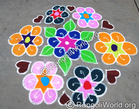 Star Flower Rangoli