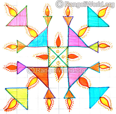 Deepam kolam april14 2015