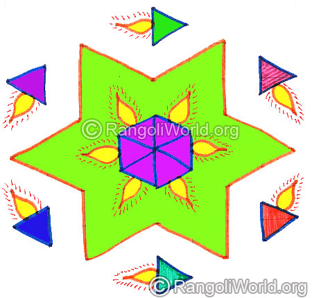 Deepam star kolam april14 2015