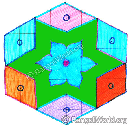 Diamond flower kolam april14 2015
