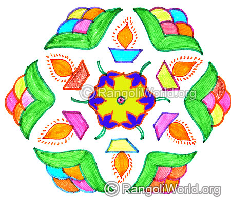 Flower lamp kolam april14 2015