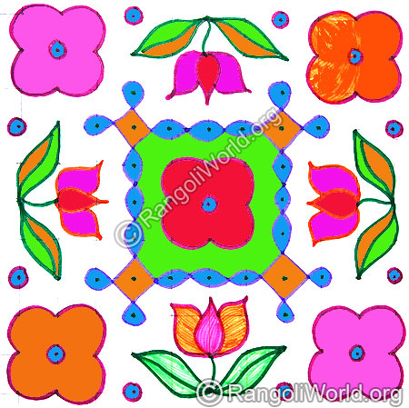 Lotus kolam april14 2015