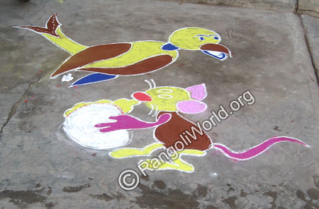 Bird Rat Rangoli