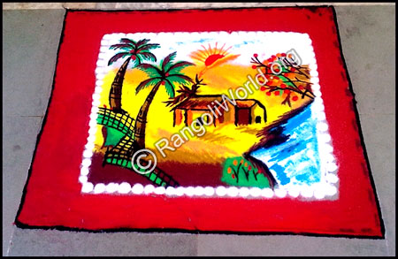 Natural Scenery Rangoli