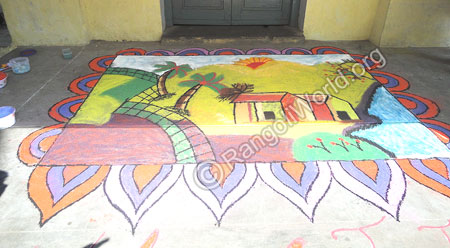 Nature Scenes House Rangoli