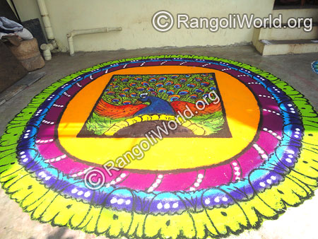 Peacock Dance Rangoli