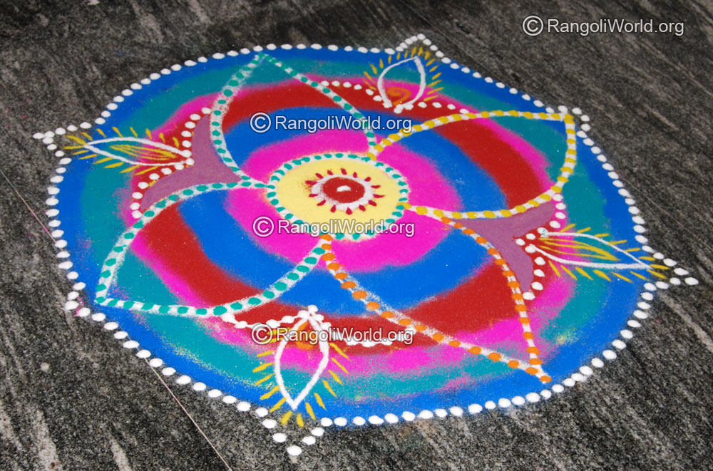 Daily Rangoli Designs Simple Easy Colorful