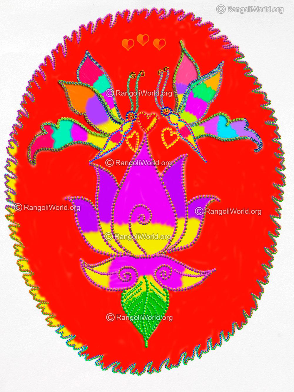 flower rangoli designs collection