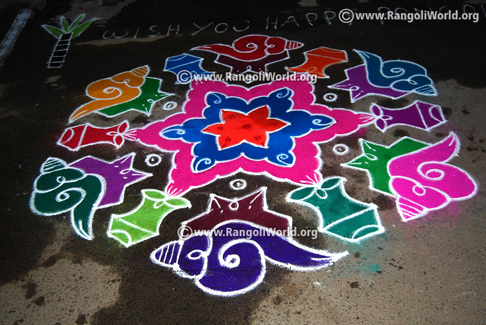 New Pulli Kolam Designs With Dots Hamil